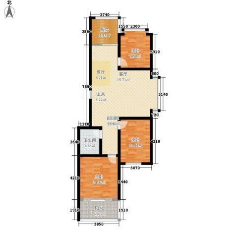 伟东城市精英领域3室0厅1卫1厨113.00㎡户型图