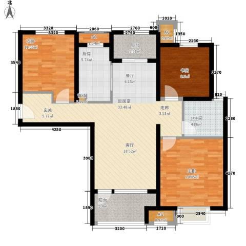 海亮公馆3室0厅1卫1厨105.00㎡户型图