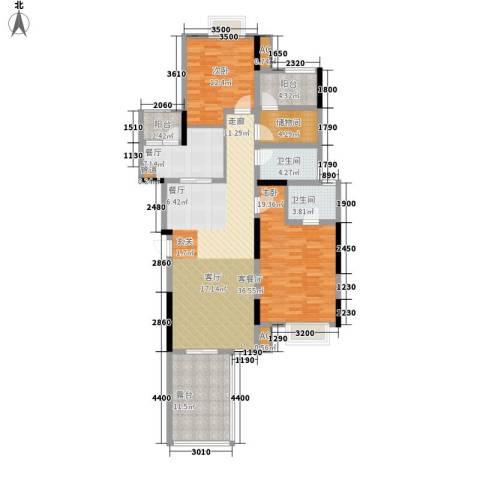 金科中央公园城2室2厅2卫0厨117.00㎡户型图