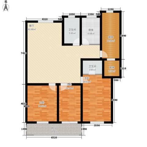 东昌公寓3室1厅2卫1厨139.00㎡户型图