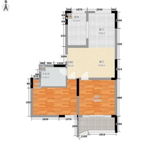 丰和新城2室0厅1卫1厨80.00㎡户型图