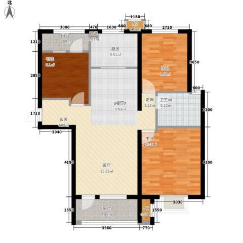 海亮公馆3室0厅1卫1厨117.00㎡户型图