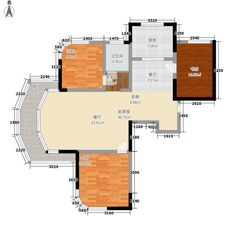 丰和新城115.00㎡5#、6#A户型标准层户型3室2厅1卫1厨