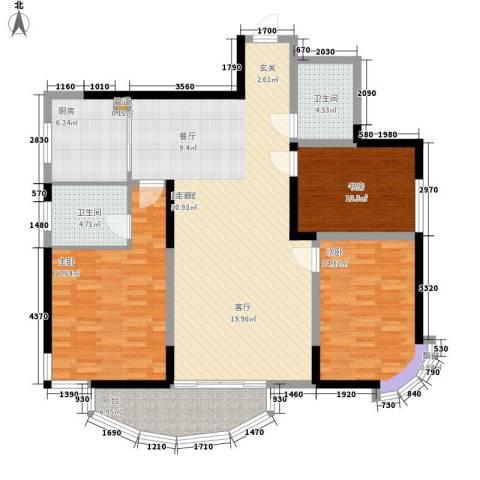 丰和新城3室0厅2卫1厨120.00㎡户型图