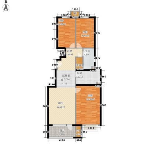 海亮公馆3室0厅1卫1厨119.00㎡户型图