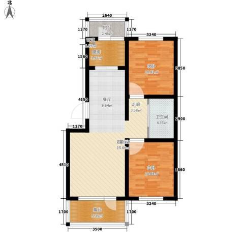 颐和花园二期2室0厅1卫1厨78.00㎡户型图