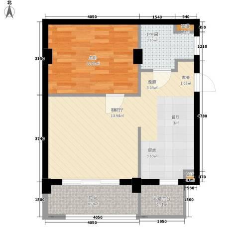 复地别院院立方1室1厅1卫0厨165.00㎡户型图
