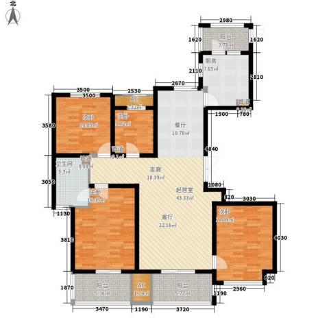 长江越领4室0厅1卫1厨140.00㎡户型图