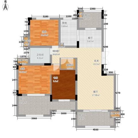 复地别院院立方2室1厅1卫1厨155.00㎡户型图
