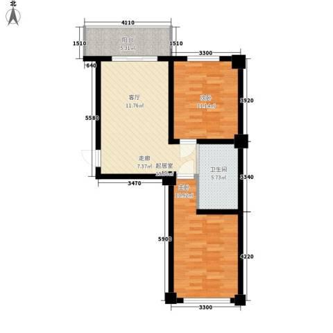 东方之珠龙兴苑2室0厅1卫0厨78.00㎡户型图