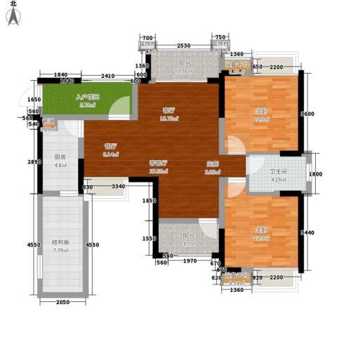香江华府2室1厅1卫1厨93.00㎡户型图