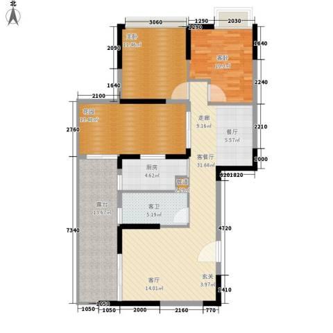 钢琴家 珠海2室1厅0卫1厨128.00㎡户型图