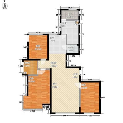 左岸慧晶3室1厅2卫1厨155.00㎡户型图