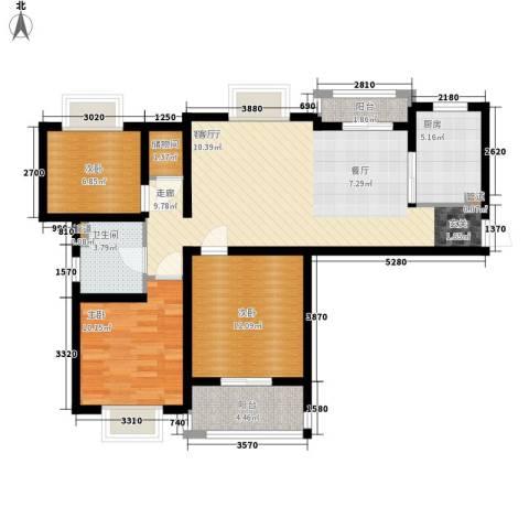 左岸慧晶3室1厅1卫1厨153.00㎡户型图