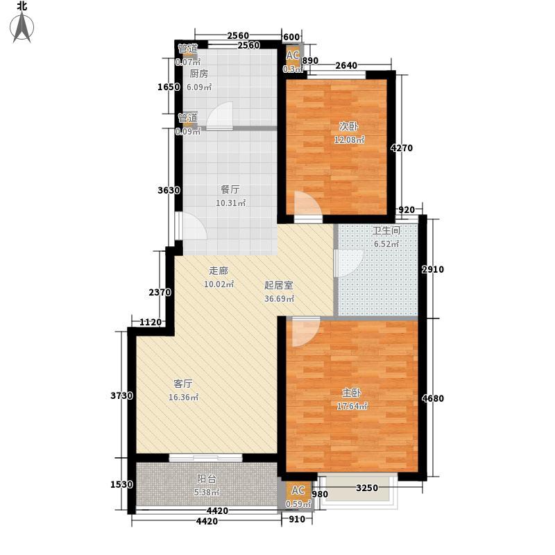 6号楼2房户型图