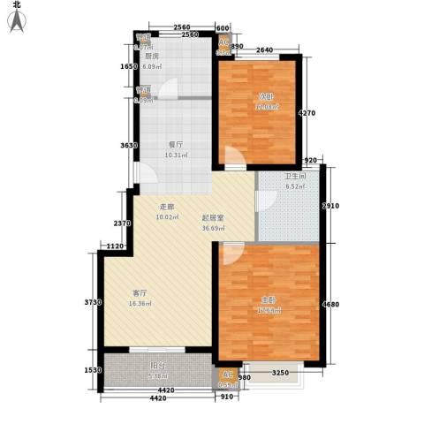 龙泽家园二期2室0厅1卫1厨95.00㎡户型图