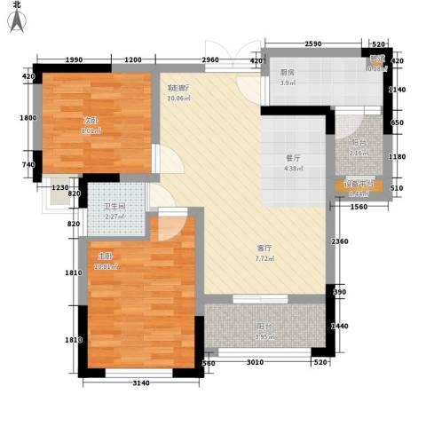 攀华国际广场2室1厅1卫1厨79.00㎡户型图