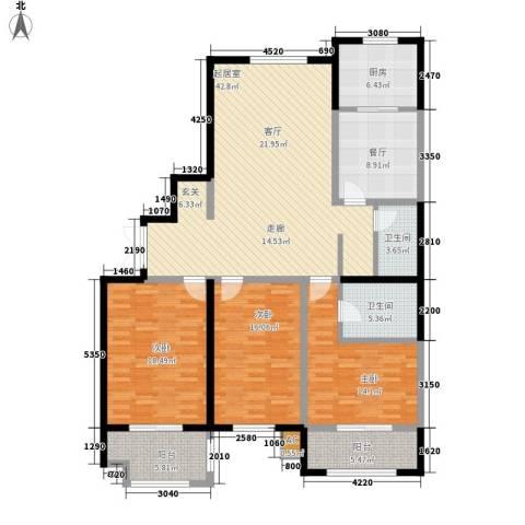 海悦名门3室1厅2卫1厨146.00㎡户型图