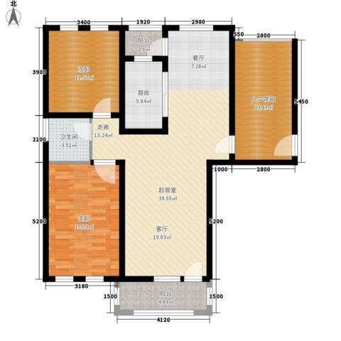 东方格兰维亚2室0厅1卫1厨105.00㎡户型图
