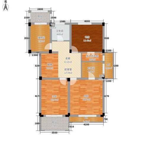 红叶枫情水岸3室0厅2卫0厨108.13㎡户型图