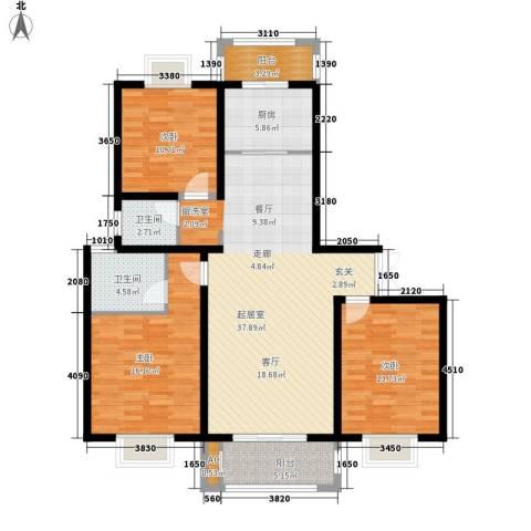 太湖郡3室0厅2卫1厨115.00㎡户型图