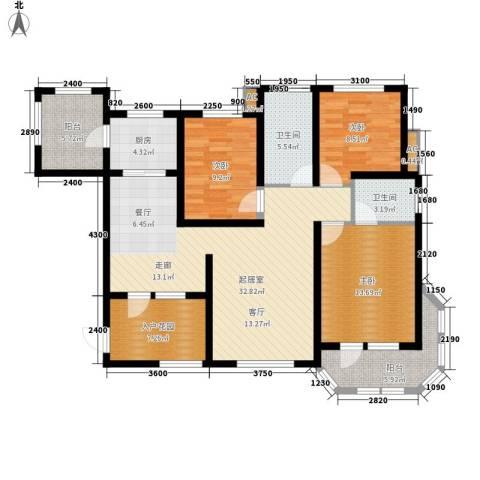 东方格兰维亚3室0厅2卫1厨133.00㎡户型图