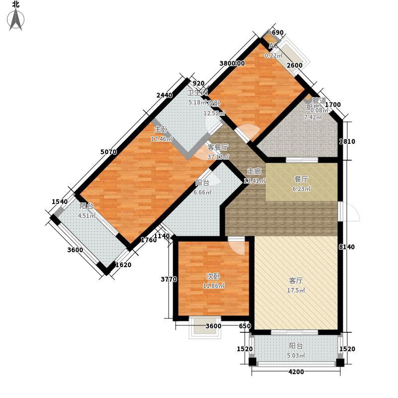 恒盛庄园127.00㎡恒盛庄园户型图泰晤士印象7、8#楼D5户型3室2厅2卫1厨户型3室2厅2卫1厨