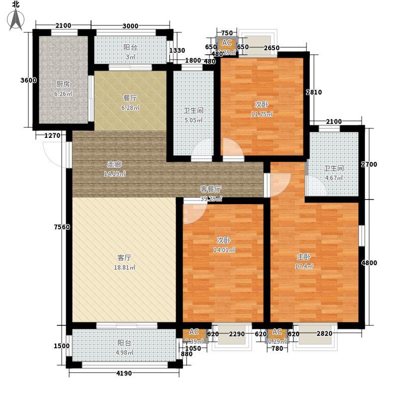 恒盛庄园恒盛庄园户型图6#楼D1户型3室2厅2卫1厨户型3室2厅2卫1厨