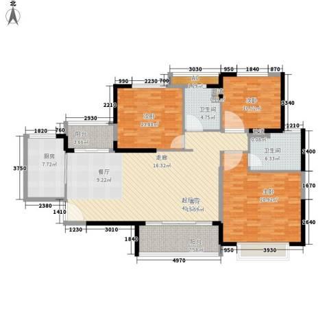 恒大名都3室0厅2卫1厨134.00㎡户型图