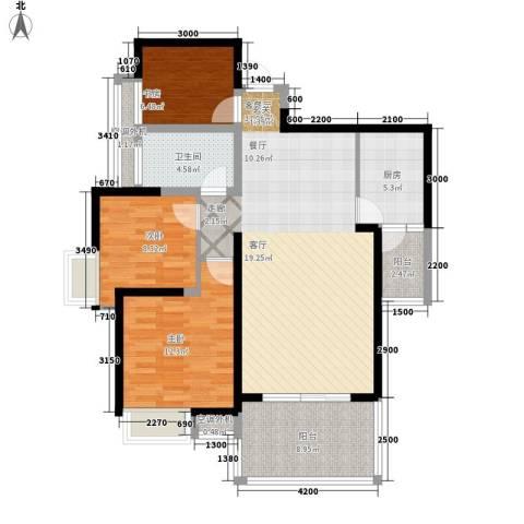 天坛大厦3室1厅1卫1厨121.00㎡户型图
