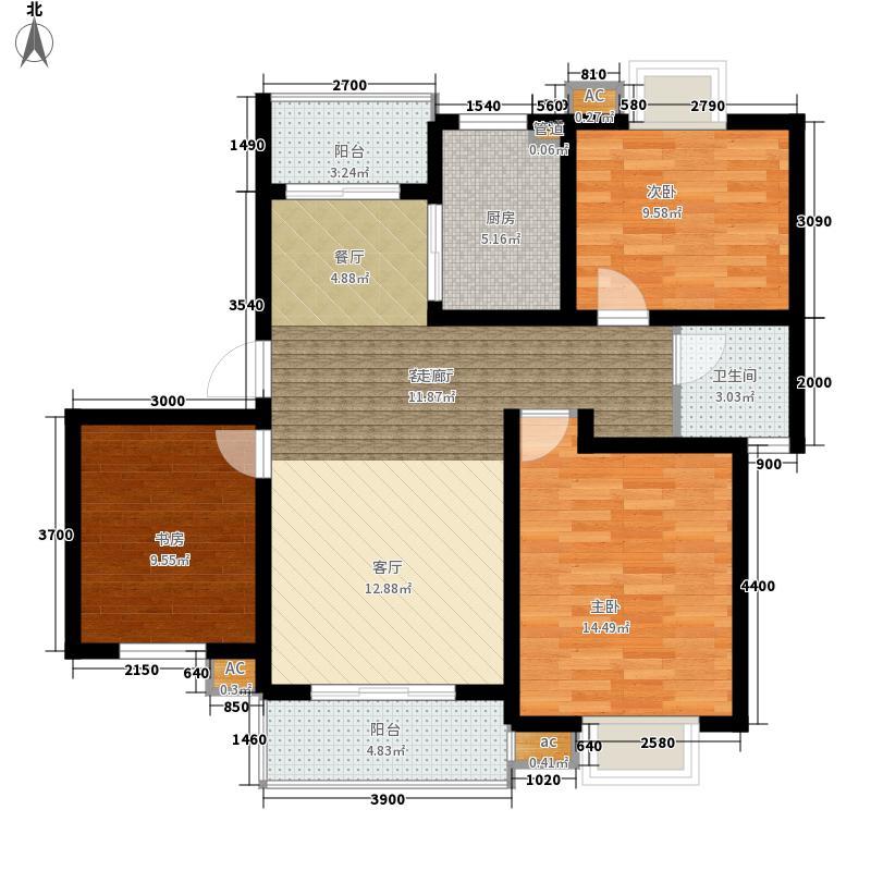 恒盛庄园恒盛庄园户型图8#、9#、15#楼C2户型2室2厅1卫1厨户型2室2厅1卫1厨