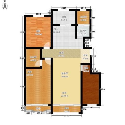 九龙明珠3室1厅2卫1厨126.00㎡户型图