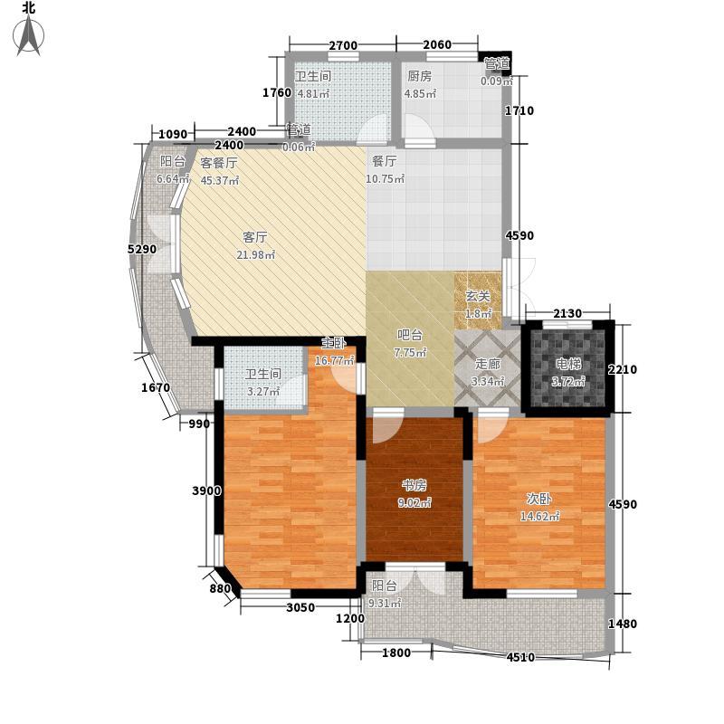 碧波康庭141.49㎡建筑面积14149户型