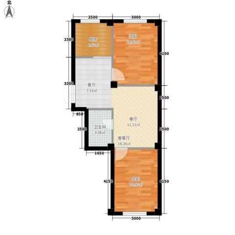 博林印象2室1厅1卫1厨54.89㎡户型图