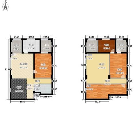 蓝湾华府4室0厅1卫1厨238.00㎡户型图