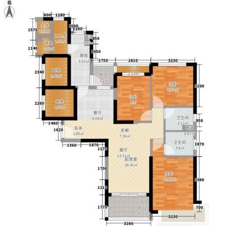 恒大名都3室0厅2卫1厨147.00㎡户型图