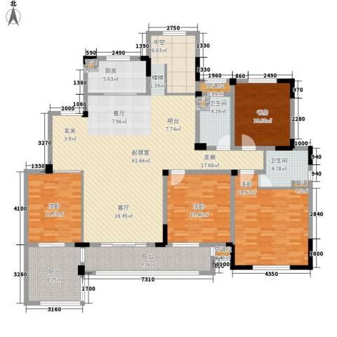 新城忆华里4室0厅2卫1厨172.00㎡户型图