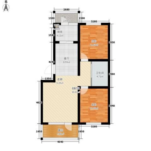 颐和花园二期2室0厅1卫1厨81.00㎡户型图
