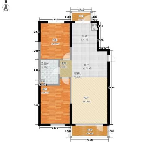 六合・嘉际2室1厅1卫0厨101.00㎡户型图