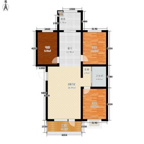 颐和花园二期3室0厅1卫1厨102.00㎡户型图