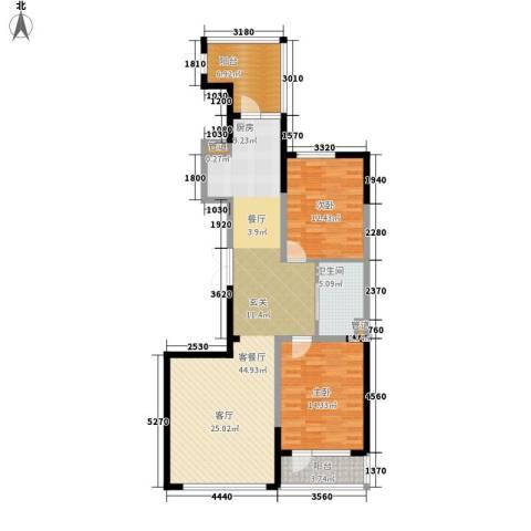 六合・嘉际2室1厅1卫0厨100.00㎡户型图