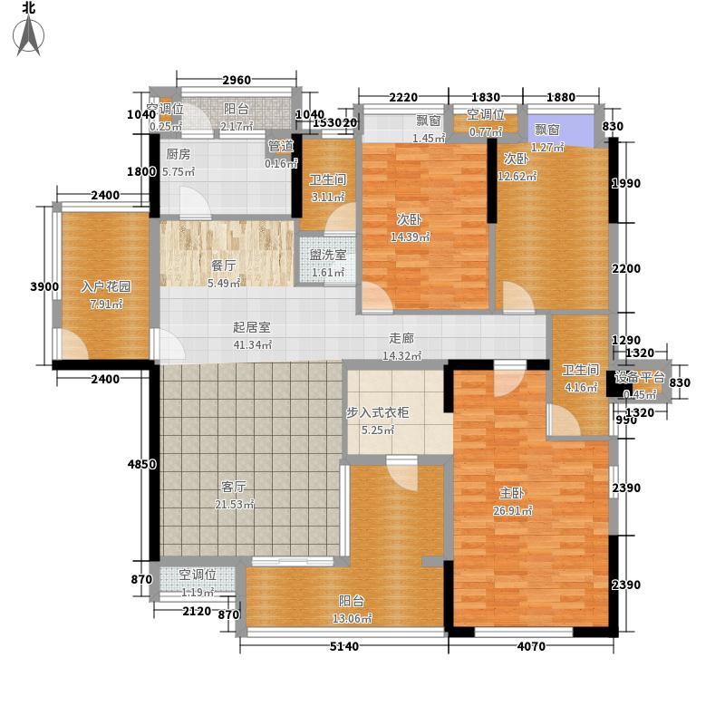 鸿业城市花园157.00㎡鸿业城市花园户型图10座04+05单位奇数层3室2厅2卫1厨户型3室2厅2卫1厨