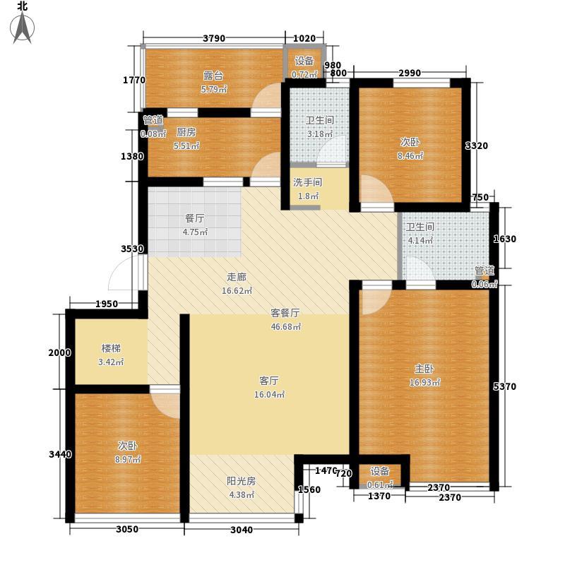 丽都新城三期丽十二公馆123.83㎡AI-5五楼户型3室2厅