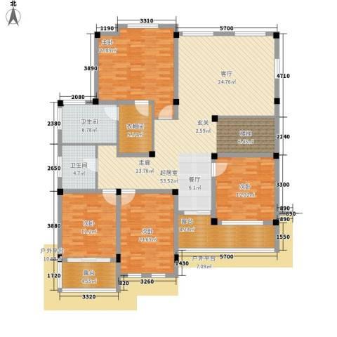 塑皇观云邸4室0厅2卫0厨294.00㎡户型图