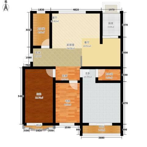 九龙明珠3室0厅2卫1厨113.00㎡户型图