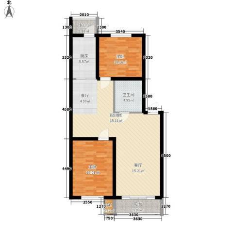 东方之珠龙兴苑2室0厅1卫1厨96.00㎡户型图