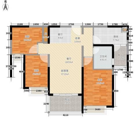 恒大名都3室0厅1卫1厨115.00㎡户型图