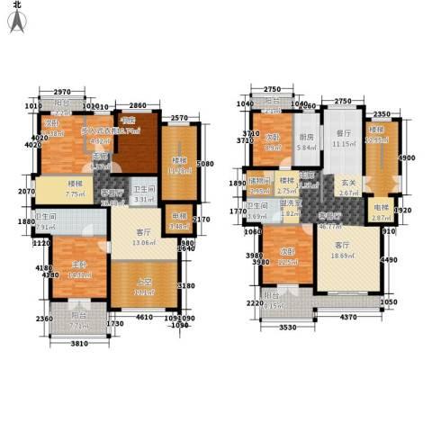宁兴・杭湾名苑5室2厅3卫1厨254.00㎡户型图