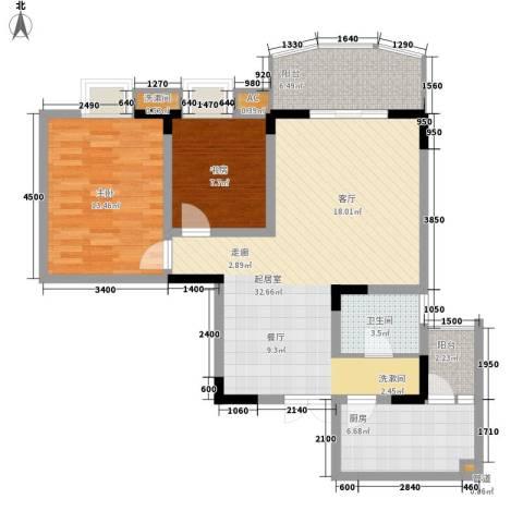 小天鹅花园2室0厅1卫1厨75.00㎡户型图