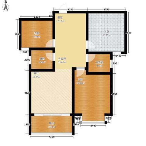 南海国际3室1厅1卫1厨119.00㎡户型图